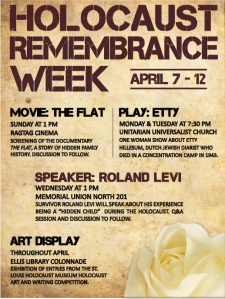 Holocaust Remembrance Week Flier